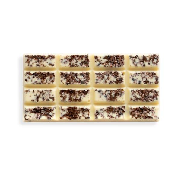 Weiße Schokolade Kaffee-Kakaonibs