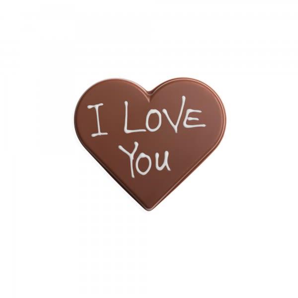 Schokoladen-Herz hell