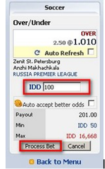 Process bet maxbet