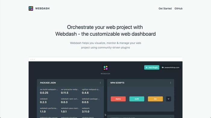 webdash screenshot