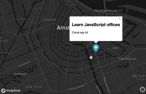 Mapbox map project