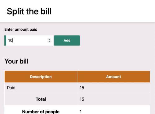 Split the bill