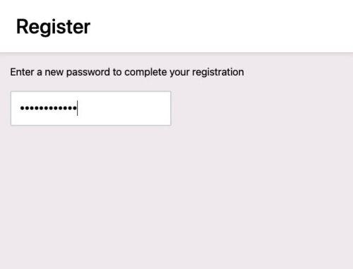 Password validation