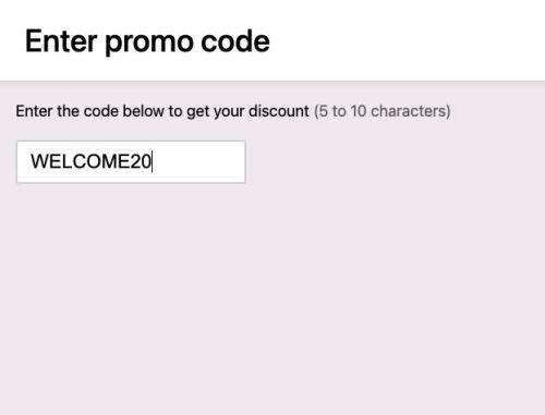 Promo code validation
