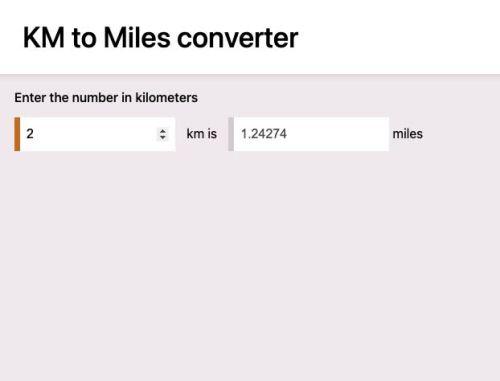 KM to Miles converter