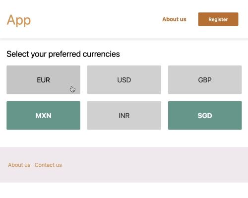 Preferred currencies project