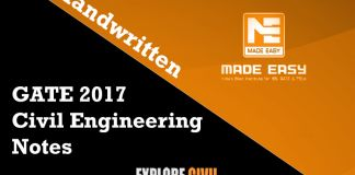 GATE 2017 Civil Engineering Notes