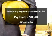 Probationary Engineer Recruitment in BEL