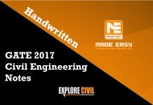 GATE 2017 Civil Engineering Notes