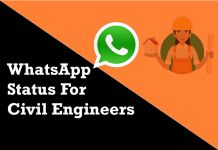 whatsapp status for civil engineers