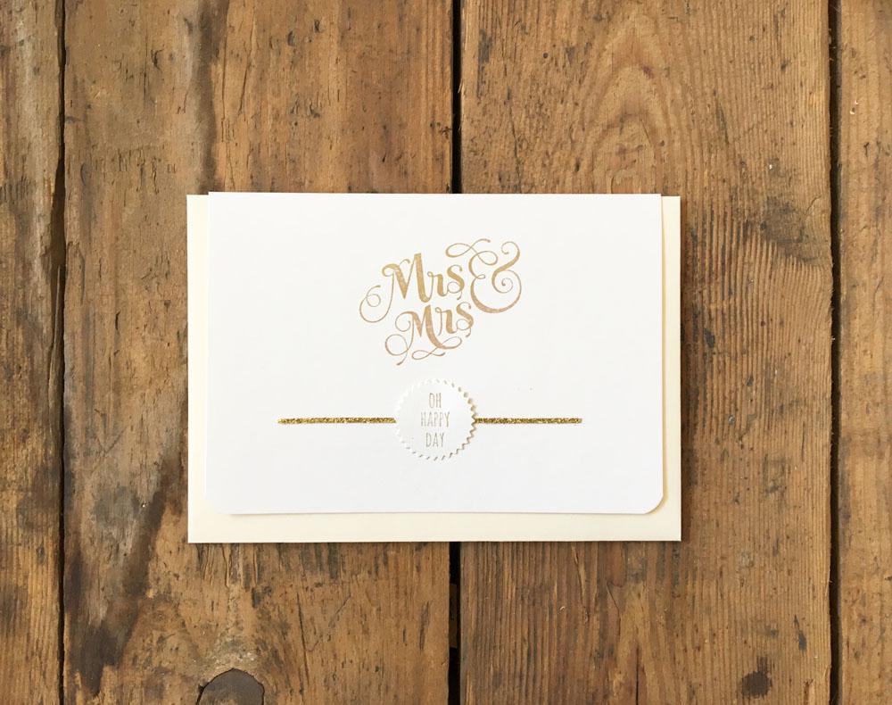 Hochzeitskarte Frauenhochzeit