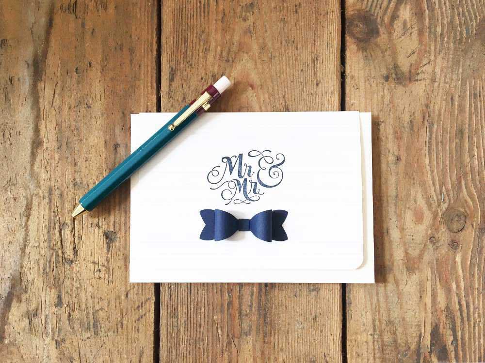 Gay Wedding Card 'Mr & Mr'