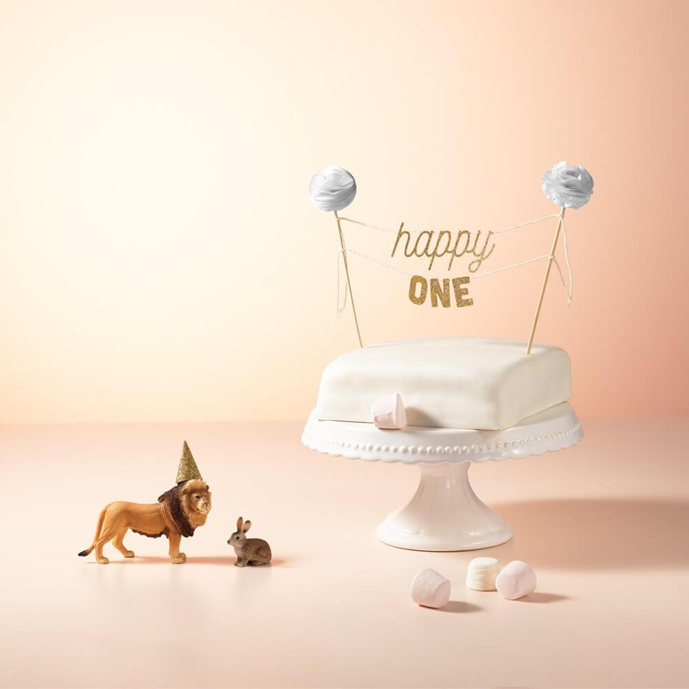 Cake Topper Glitter Erster Geburtstag