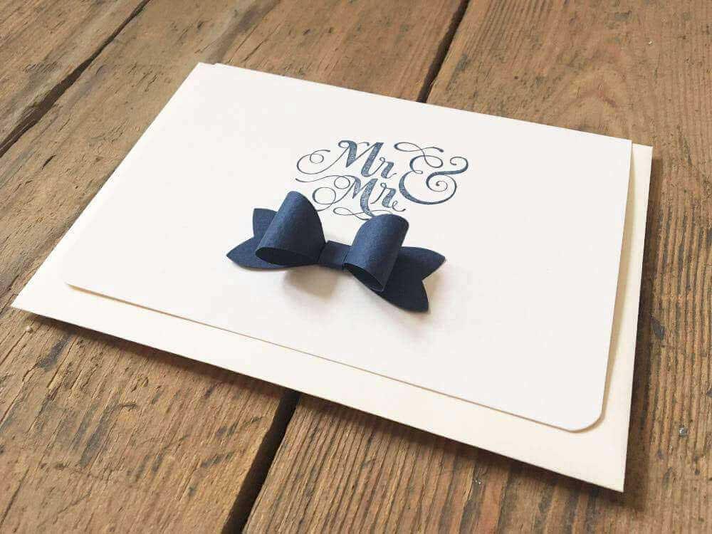 Hochzeitskarte für schwule Paare - 'Mr & Mr'