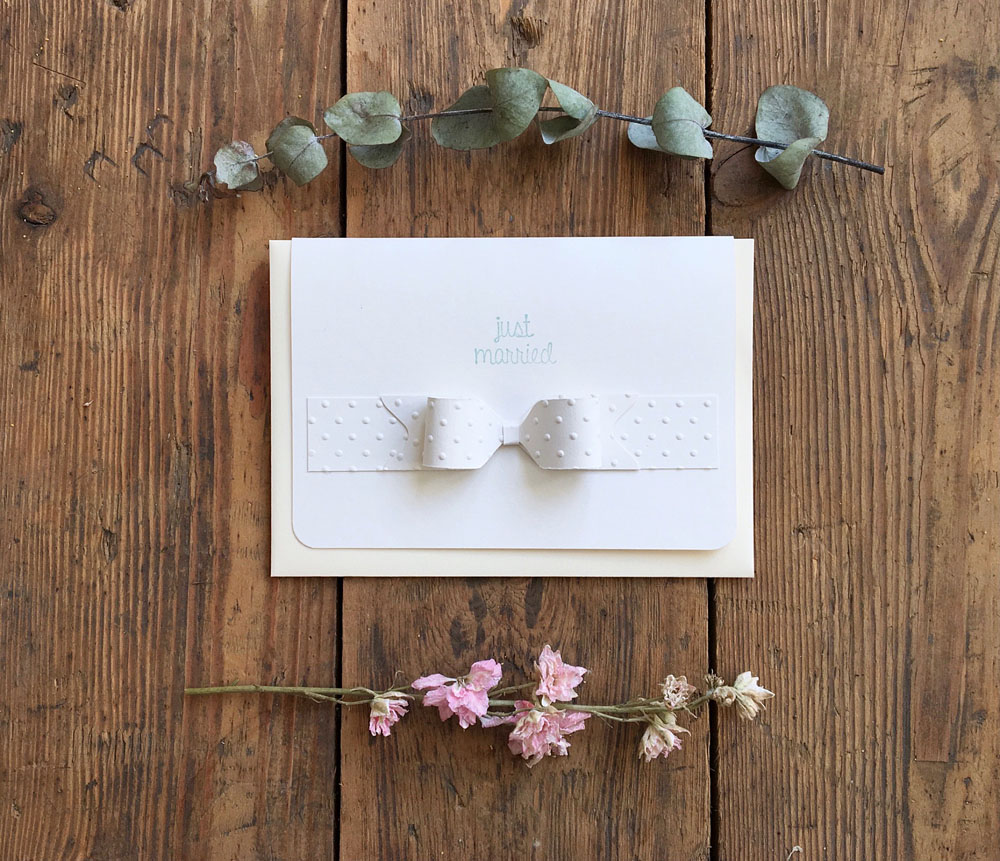 Handmade Wedding Card 'Just Married'