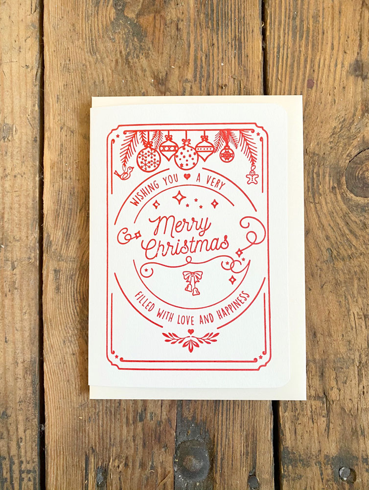 Merry Christmas Letterpress Holiday Cards