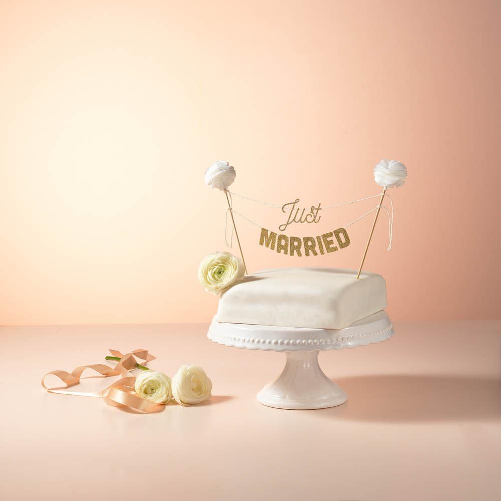 Kuchengirlande zur Hochzeit, Wimpelkette Tortendeko
