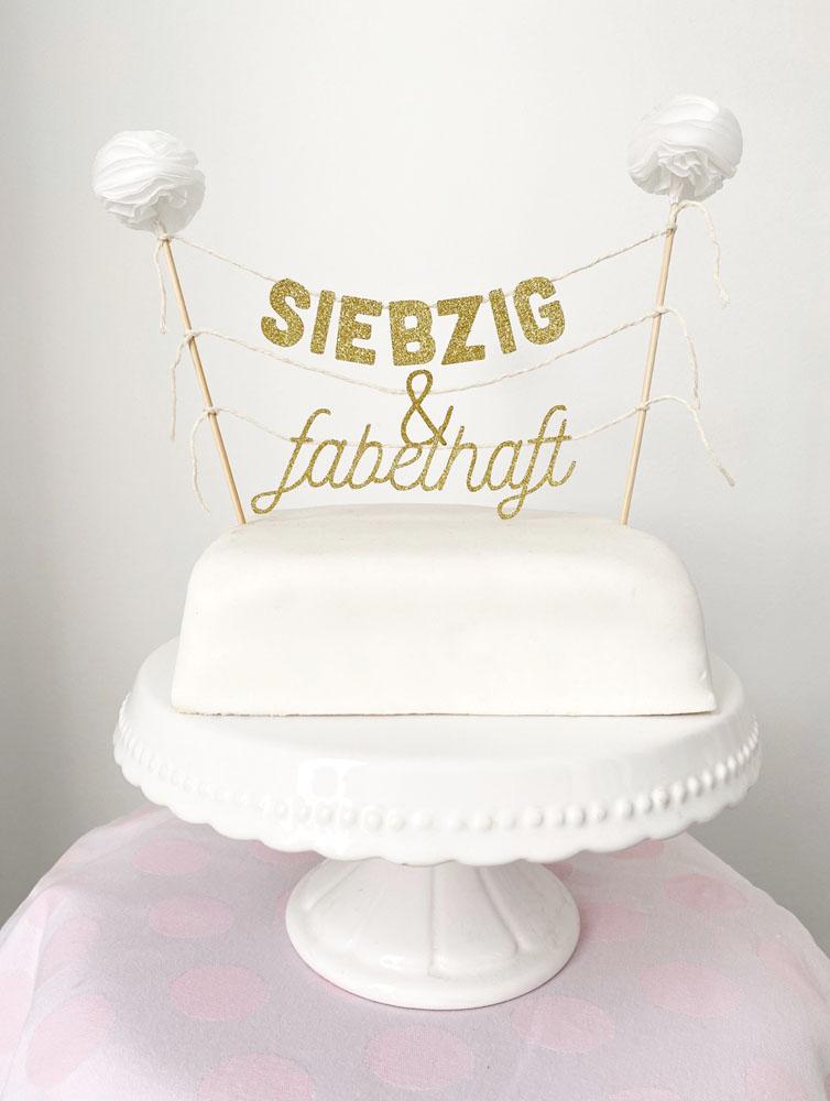 Cake Topper 70. Geburtstag