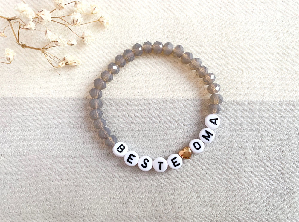 Beste Oma Armband, Perlenarmband