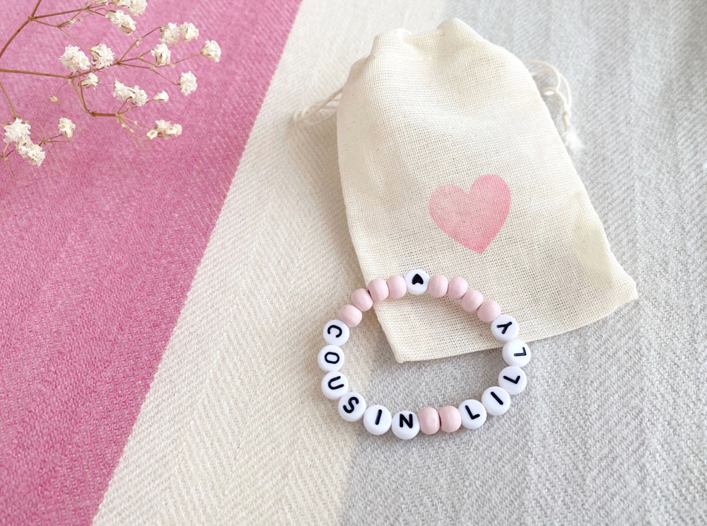 Personalised Cousin Name Bracelet