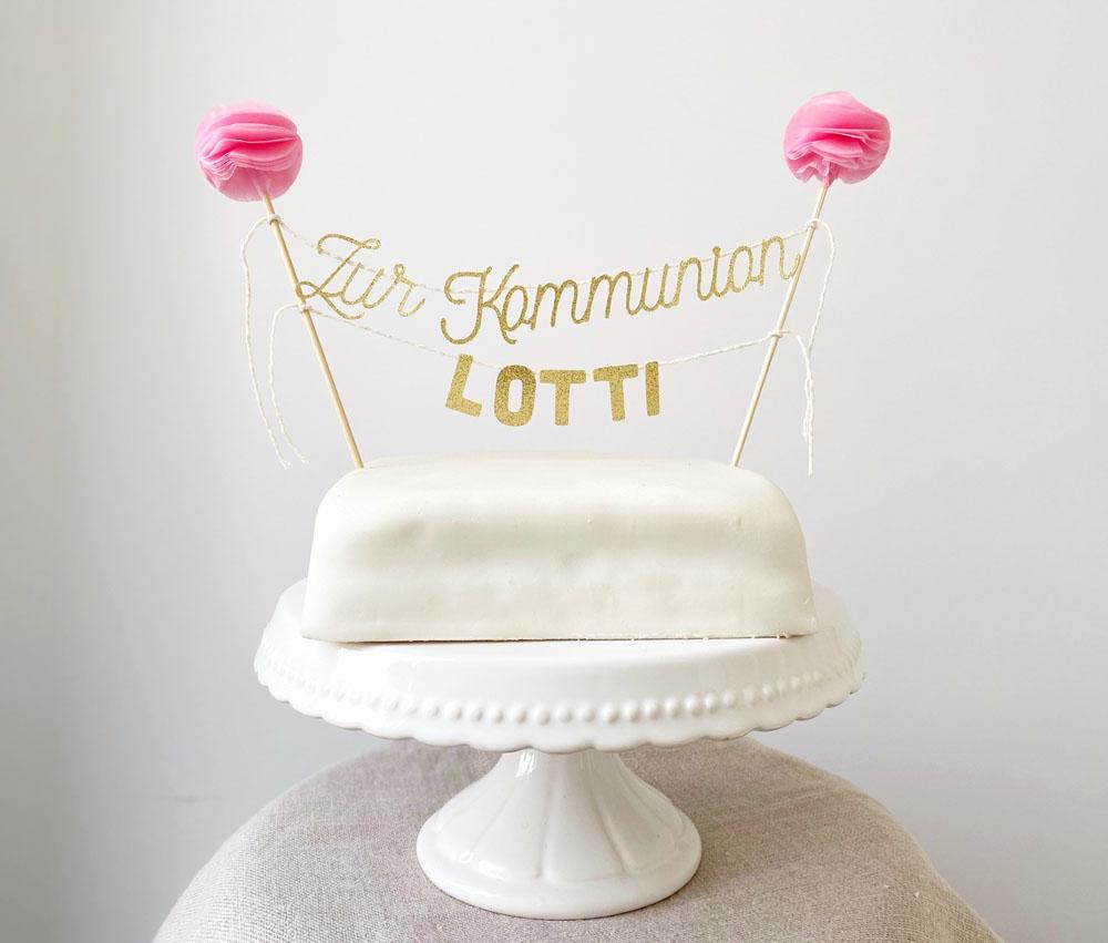 Cake Topper Personalisiert Kommunion