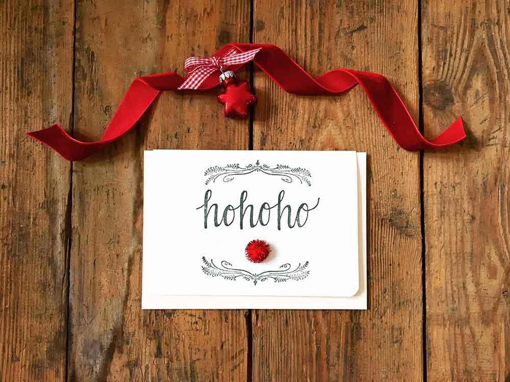 Hohoho Christmas Card, Xmas Card Set