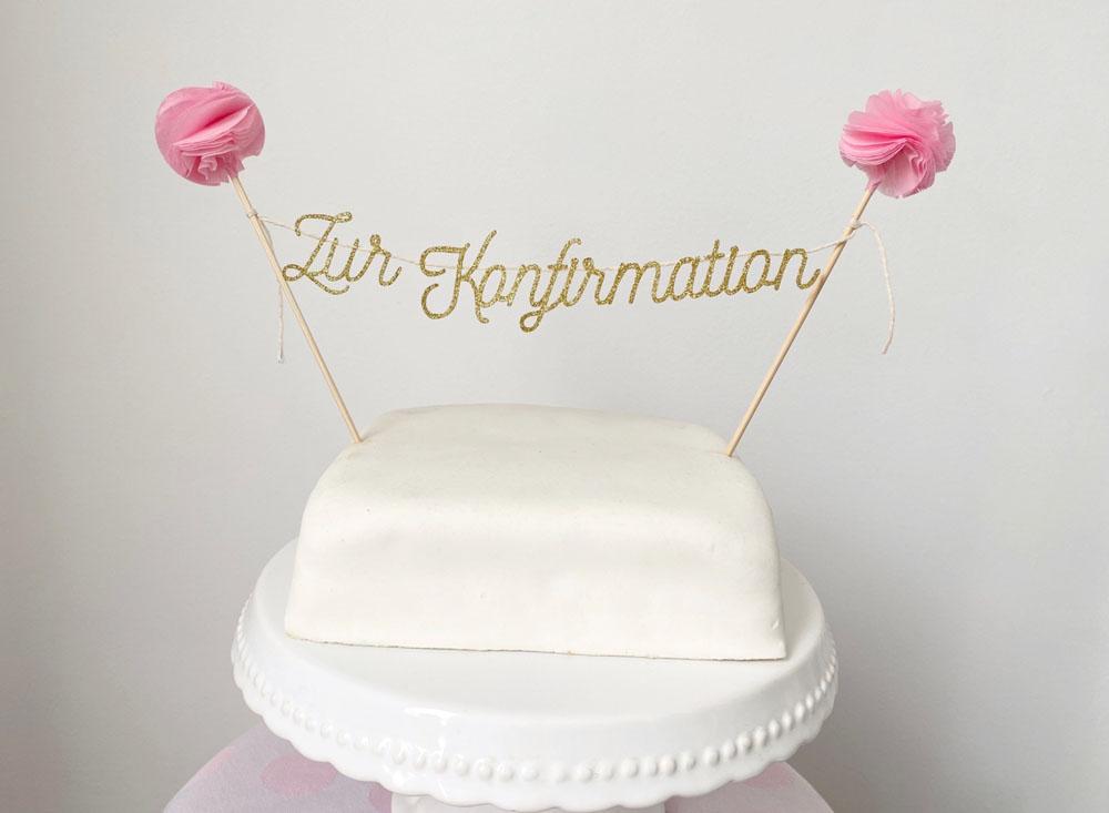 Cake Topper Konfirmation