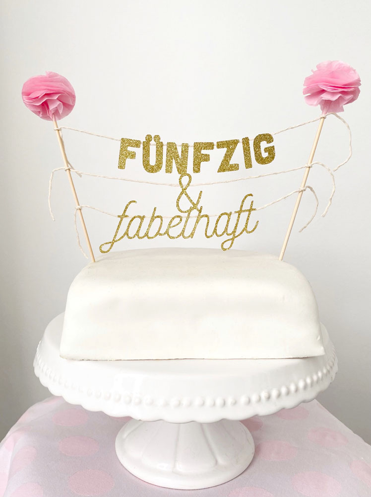 Cake Topper 50. Geburtstag