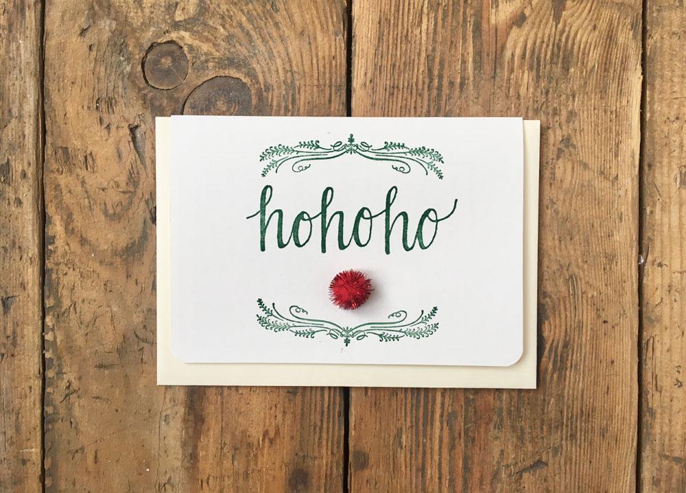 Weihnachten Grußkarte 'Hohoho'