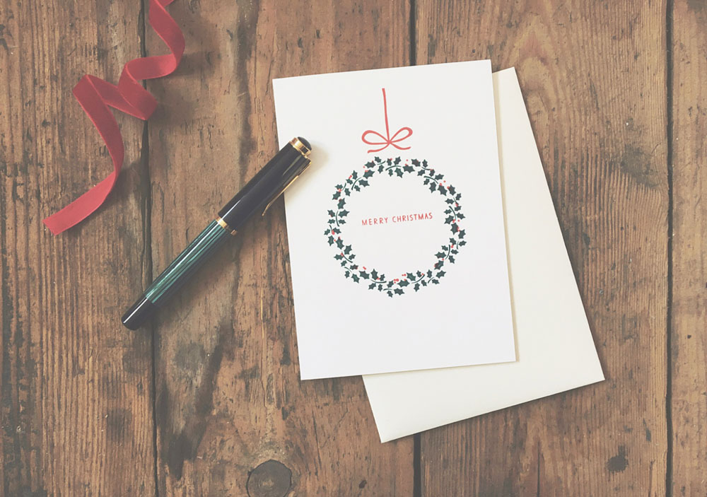 Letterpress Christmas Card 'Merry Christmas`