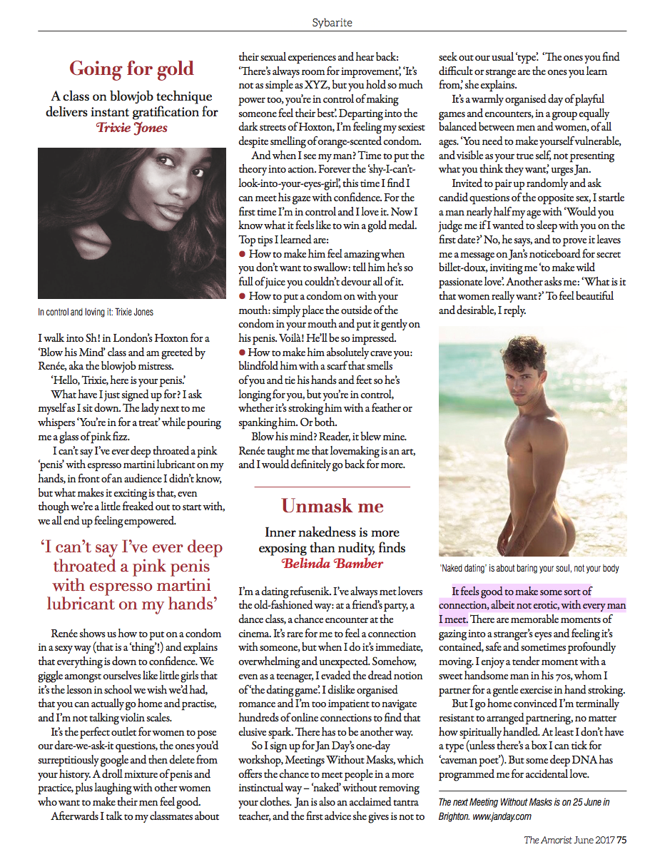 Jan Day featured in The Amorist, June 2017