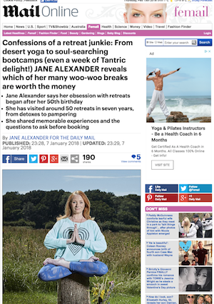 Jan Day featured in The Daily Mail, January 2018