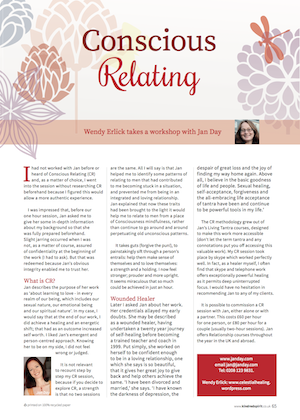 Jan Day featured in Kindred Spirit Magazine, April 2015