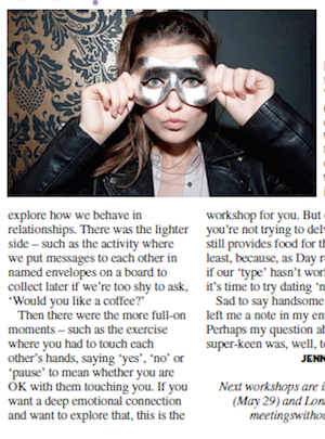 Jan Day featured in The Metro, May 2016