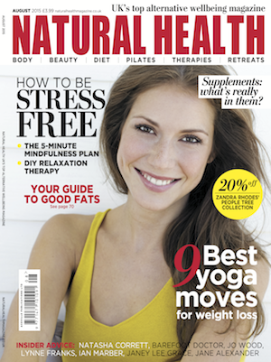 Jan Day featured in Natural Health magazine, August 2015