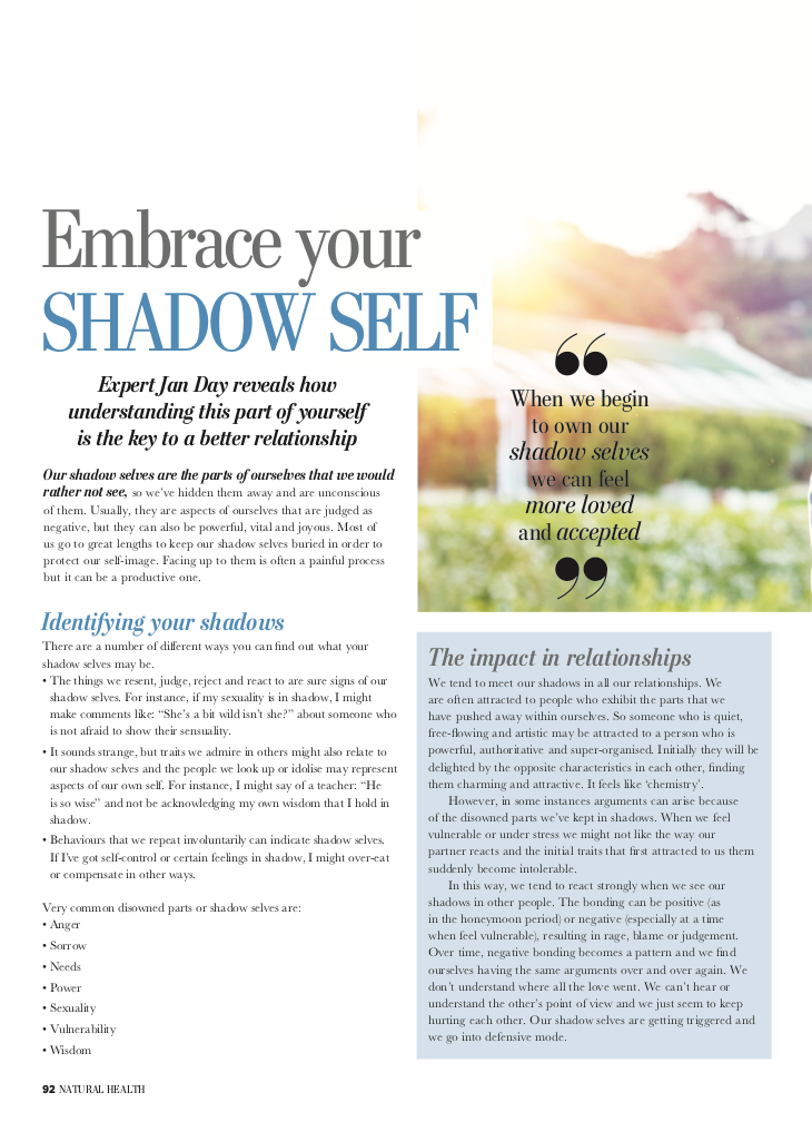 Jan Day featured in Natural Health, December 2017
