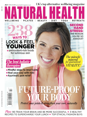 Jan Day featured in Natural Health magazine, July 2016