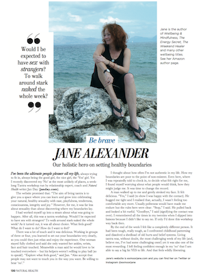Jan Day featured in Natural Health, July 2017