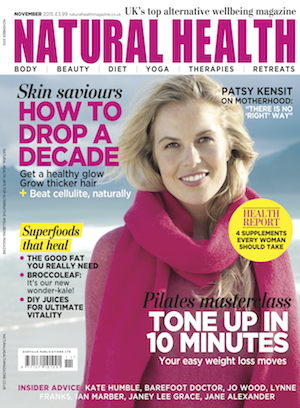 Jan Day featured in Natural Health magazine, November 2015