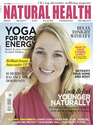 Jan Day featured in Natural Health magazine, October 2015