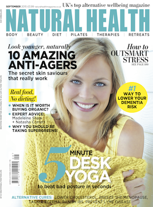 Jan Day featured in Natural Health magazine, September 2015