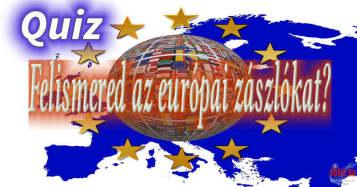 Európai zászlók. Quiz