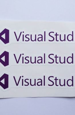 Stiker Visual Studio  - Vinyl Cut 1