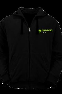 [PRE ORDER] Hoodie Zipper AndroidDev 1