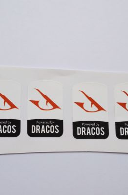 Stiker Badge Dracos Linux 1