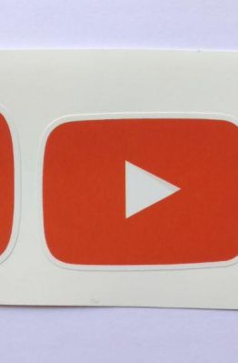 Stiker Youtube -  Vinyl Cut 1