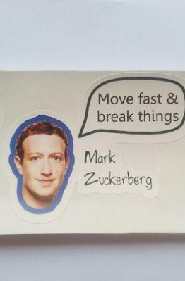 Stiker Mark Zuckerberg Quote - Vinyl Cut 1