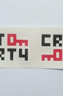 Stiker Crypto Party - Vinyl Cut 1