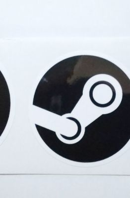 Stiker Steam - Vinyl Cut 1
