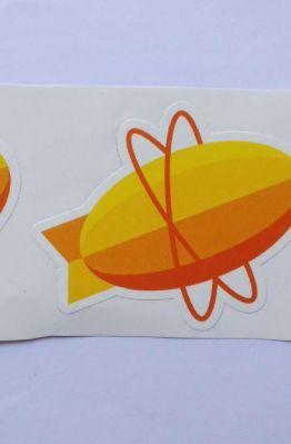 Stiker Zepplin -  Vinyl Cut 1